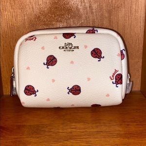 Coach Lady Bug Mini Boxy Cosmetic Case
